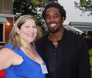 Kate_the_Great and Dhani Jones at Zoofari